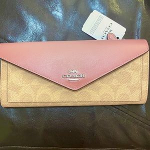Coach Colorblock Signature Canvas & Leather Wallet